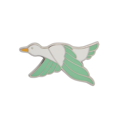 Dancing Duck Enamel Pin