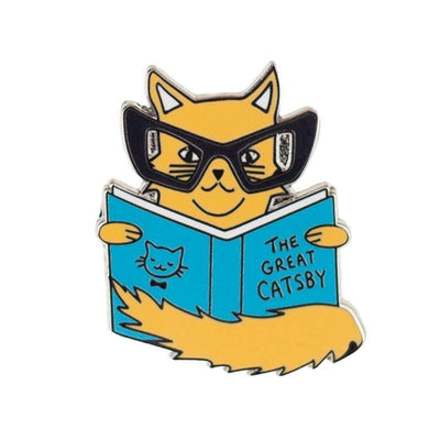 Erstwilder Puss In Books Enamel Pin EP0085-6333
