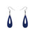 Erstwilder Essentials Rain Drop Ripple Glitter Drop Earrings - Blue EE1016-RG3000