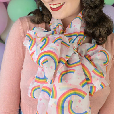 Erstwilder Rainbow Heart Large Neck Scarf SC1042-8001