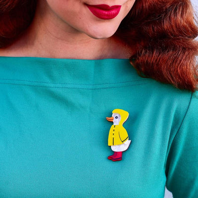 Erstwilder Duck, Duck, Splash! Brooch BH7048-6080
