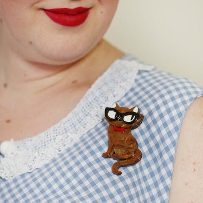 Erstwilder Elissa the Indie Cat Brooch BH5624-6200