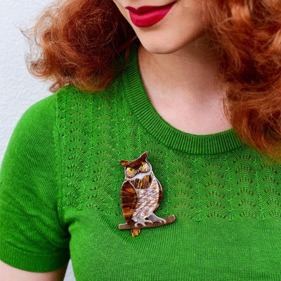 Gillian the Giving Owl Brooch