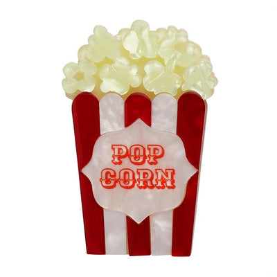 Concession Stand Classic Popcorn Brooch