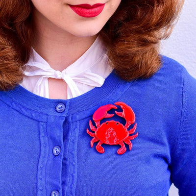 Huggable Decapod Brooch
