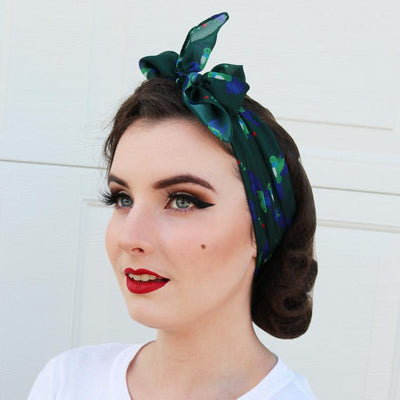 Hyacinth Hummingbird Head Scarf