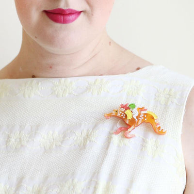 Leafy and the Sea Dragon Brooch