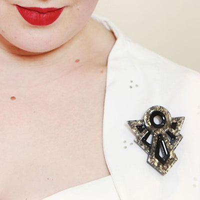 Modernist Motif Brooch