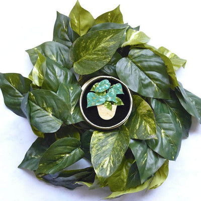 Show Me the Money Plant Brooch