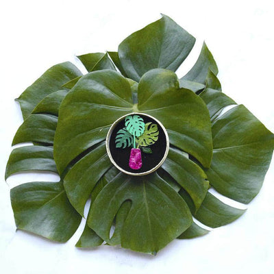 Green Eyed Monster Brooch