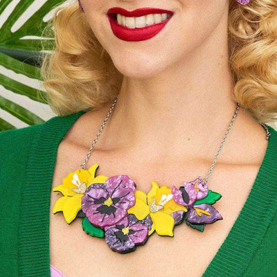 Love-in-Idleness Flower Necklace (Large)