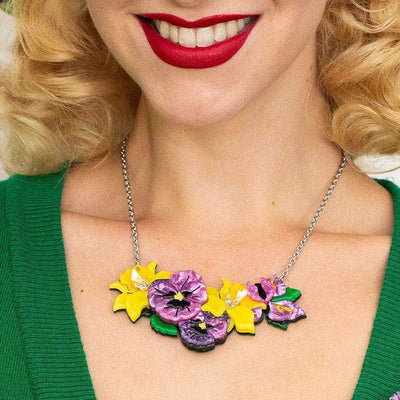Erstwilder Love-in-Idleness Flower Necklace (Small) N6803-5060