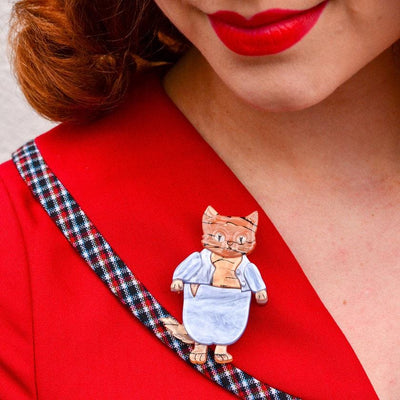 Erstwilder Tom Kitten Brooch BH6783-3090