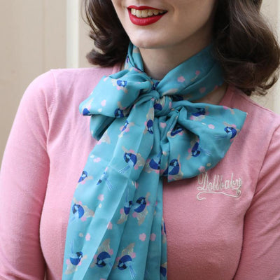 Erstwilder Phoebe the Fairy Wren Neck Large Scarf SC1034-3430
