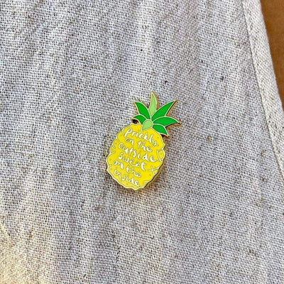 Prickly Pineapple  Enamel Pin
