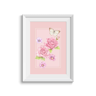 Erstwilder Prim & Proper Flowers Illustration Art Print