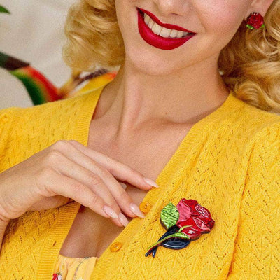 Erstwilder Budding Romance Rose Brooch BH6792-1040