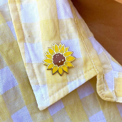Salubrious Sunflower Enamel Pin