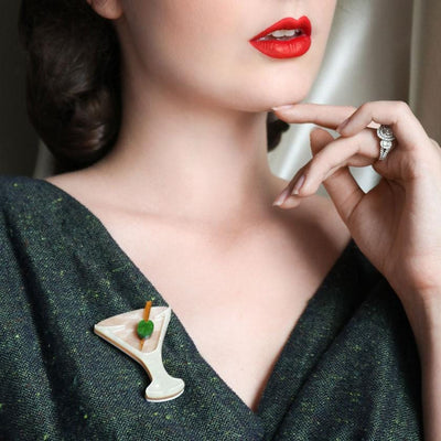 Shaken, Not Stirred Brooch