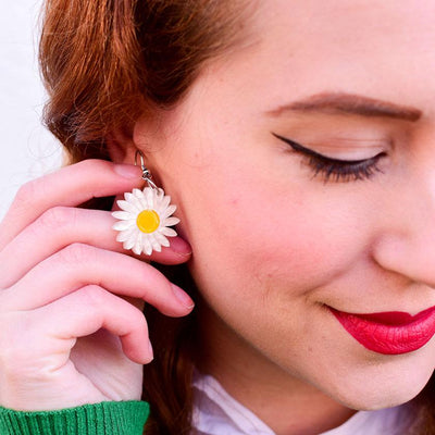 She Loves Me Daisy Drop Earrings