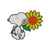 Erstwilder Snoopy's Sunflower Enamel Pin EP0077-8060