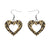 Erstwilder Essentials Heart Chunky Glitter Resin Drop Earrings - Yellow EE1005-CG6000
