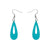 Erstwilder Essentials Rain Drop Bubble Resin Drop Earrings - Teal EE1016-BU4400