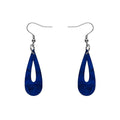 Rain Drop Textured Resin Drop Earrings - Blue
