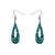 Erstwilder Essentials Rain Drop Chunky Glitter Resin Drop Earrings - Teal EE1016-CG4400