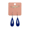 Erstwilder Essentials Rain Drop Textured Resin Drop Earrings - Blue EE1016-T3000