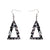 Erstwilder Essentials Tree Chunky Glitter Resin Drop Earrings - Holographic Silver EE1010-CG7200