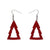 Erstwilder Essentials Tree Glitter Resin Drop Earrings - Red EE1010-SG1000