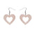 Erstwilder Essentials Heart Ripple Glitter Resin Drop Earrings - Pink EE1005-RG2000