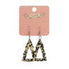 Erstwilder Essentials Tree Chunky Glitter Resin Drop Earrings - Gold EE1010-CG6500