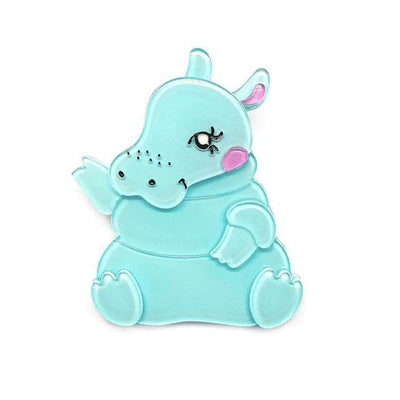 Kubu the Cutie Hippo Brooch