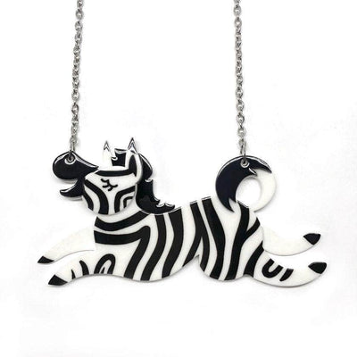 Zebra Crossing Necklace