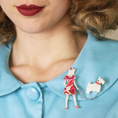 Walking Wonders Brooch