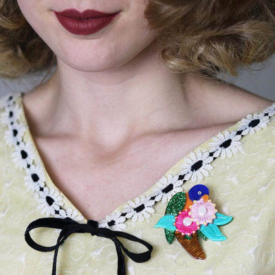 Naughty Nectar Nibbler Brooch