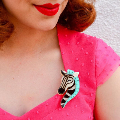 Zelda the Zany Zebra Brooch