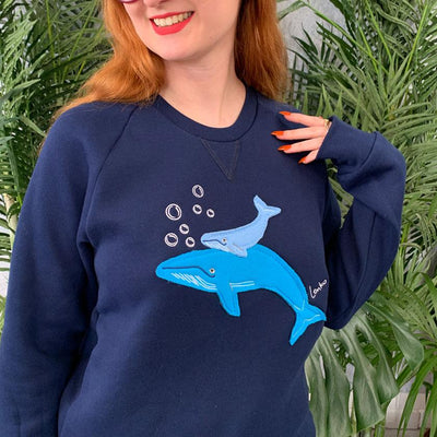 Erstwilder Benevolent Behemoths Blue Whale Sweater