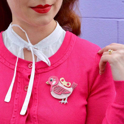 Wind-Up Whimsy Brooch