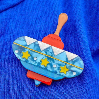 Spinning Around Toy Brooch