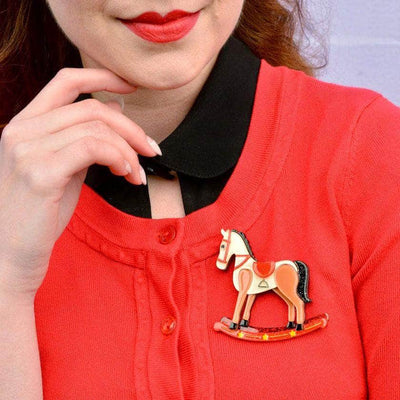 Rocking Reminiscence Horse Brooch