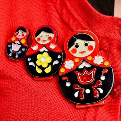 Matryoshka Memories Toy Brooch Set