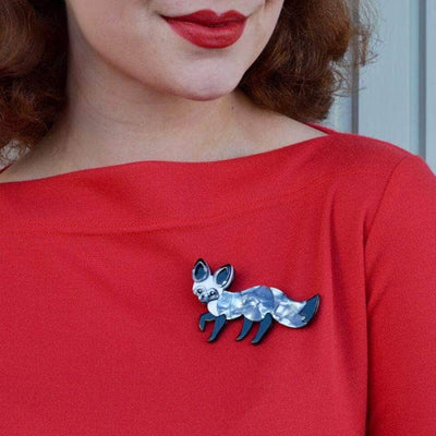 Bat-Eared Bestie Fox Brooch