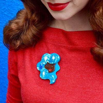 Aquarius the Accepting Brooch