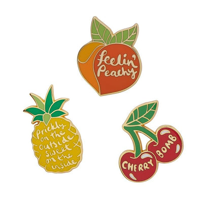 Feeling Fruity Enamel Pin Set