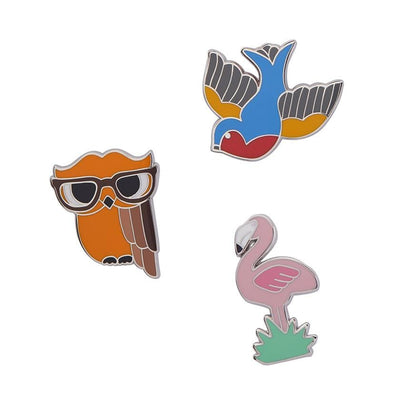 Flamboyant Flamingo Funk Enamel Pin