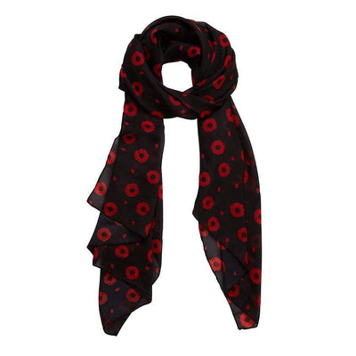 Poppy Field Neck Large Neck Scarf
