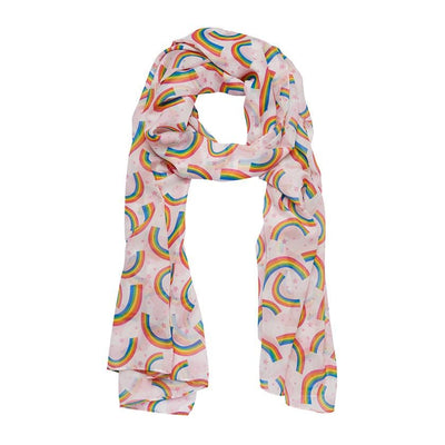 Rainbow Heart Large Neck Scarf